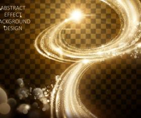 Golden light abstract effect vector material