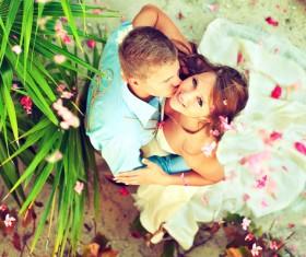 Groom Kiss the brides Stock Photo 01