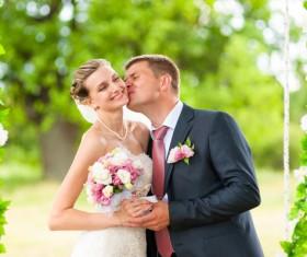 Groom Kiss the brides Stock Photo 02