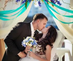 Groom Kiss the brides Stock Photo 03