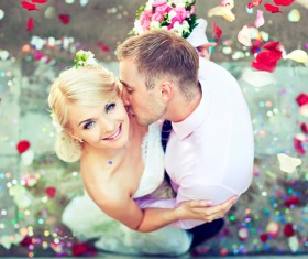 Groom Kiss the brides Stock Photo 04