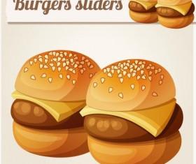 Hamburger fast food vector material 02