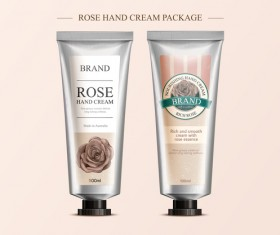 Hand cream package template vector 01