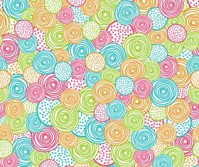 Hand drawn circles seamless pattern vector