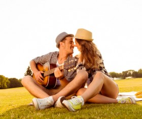Happy Lovers outing Stock Photo 01