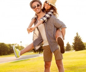 Happy Lovers outing Stock Photo 03