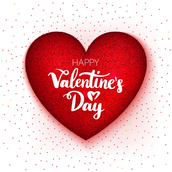 Happy Valentine Day Heart Vector material