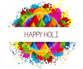 Happy holi frstival vector background 02