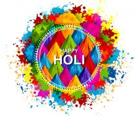 Happy holi frstival vector background 03