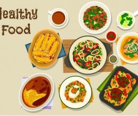 Healthy food flat vector 06