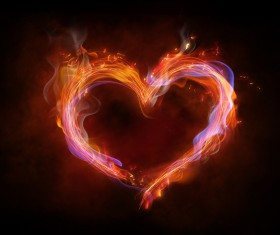Heart of fire Stock Photo 02