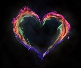 Heart of fire Stock Photo 03