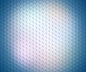 Hexagon pattern with blurs background vector set 05