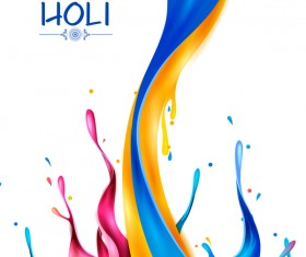 Holi frstival white background vector 03
