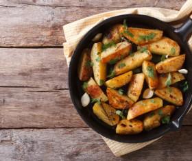 Italian herbs roasted potatoes Stock Photo 06