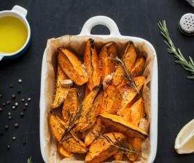 Italian herbs roasted potatoes Stock Photo 07