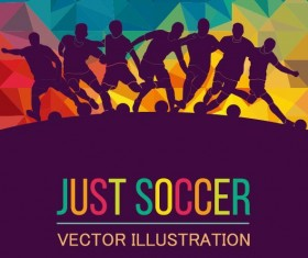 Just soccer poster template vector