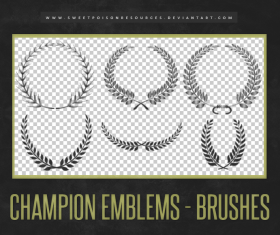 Laurel Wreath Photoshop Brushes