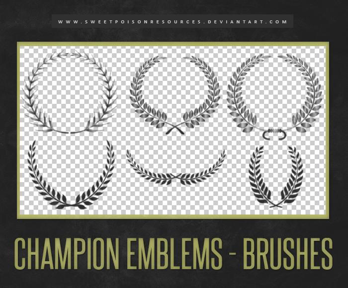 Laurel Wreath Photoshop Brushes