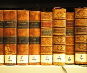 Library ancient books Stock Photo 03