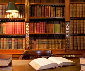 Library ancient books Stock Photo 04
