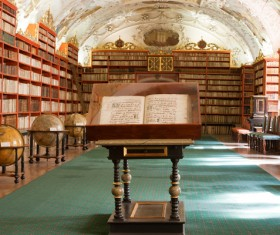 Library ancient books Stock Photo 05