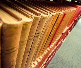 Library ancient books Stock Photo 06