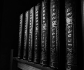 Library ancient books Stock Photo 08