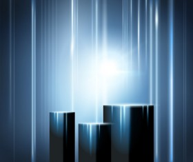 Light lines with blue abstract background vector