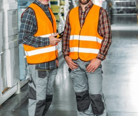 Logistics warehouse Administrators Stock Photo 01