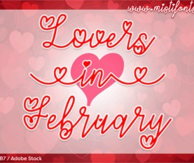 Lovers Valentine Font