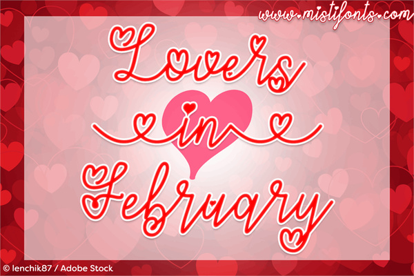 Lovers Valentine Font