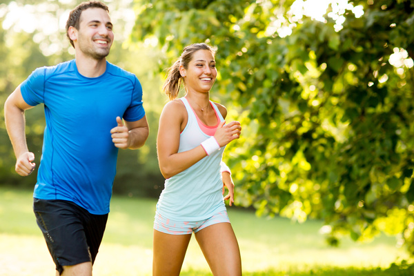 Lovers running exercise Stock Photo 01