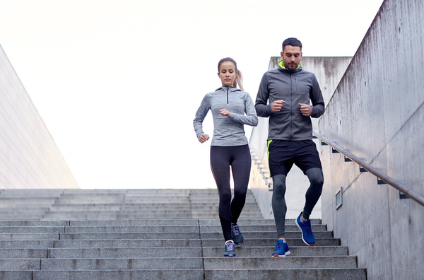 Lovers running exercise Stock Photo 02