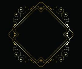 Luxury decorative golden frame vector