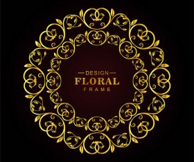 Luxury floral frame design vectors
