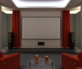 Luxury home theater Stock Photo 03