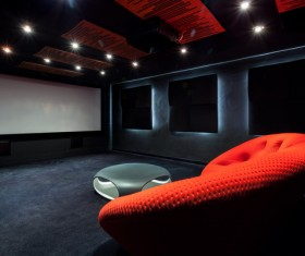 Luxury home theater Stock Photo 04