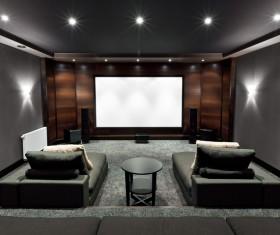 Luxury home theater Stock Photo 05
