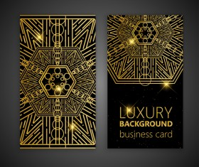 Luxury ornament card template vector 06