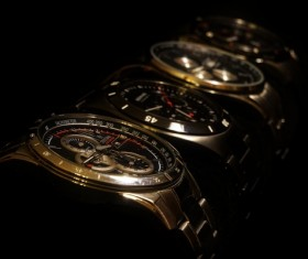 Mens brand watch closeup Stock Photo