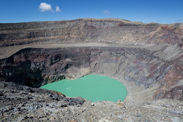 Meteorite crater forms natural lake landscape Stock Photo 12