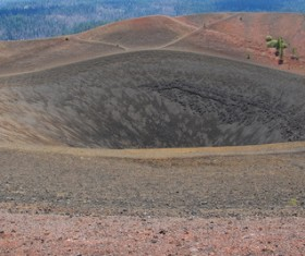 Meteorite crater on the ground Stock Photo 01