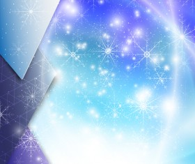 Modern background with snowflake vector