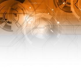 Modern tech brown background vector 01