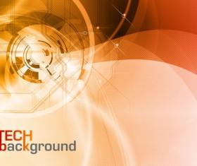 Modern tech brown background vector 02