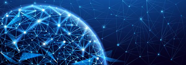 Modern tech global network background vector 06