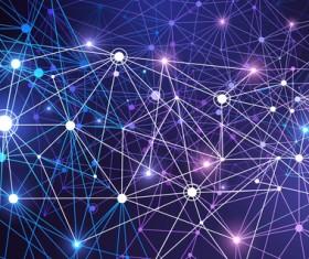 Modern tech global network background vector 07