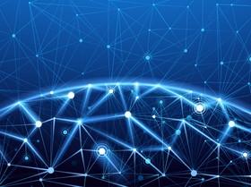 Modern tech global network background vector 08