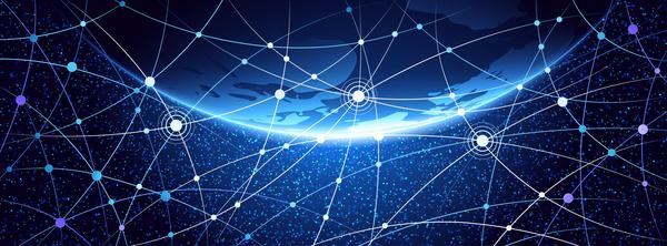 Modern tech global network background vector 10